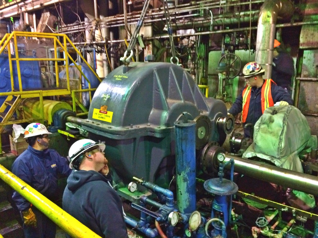 Installation of Turbine Gearbox