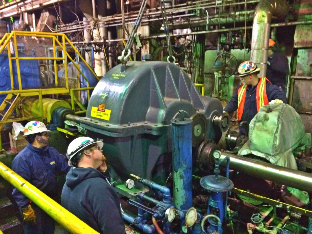 Installation of Turbine Gearbox
