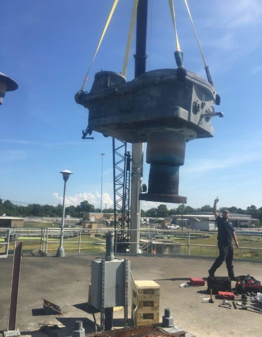 Aerator Gearbox Repair for Wastewater Treatment Facility