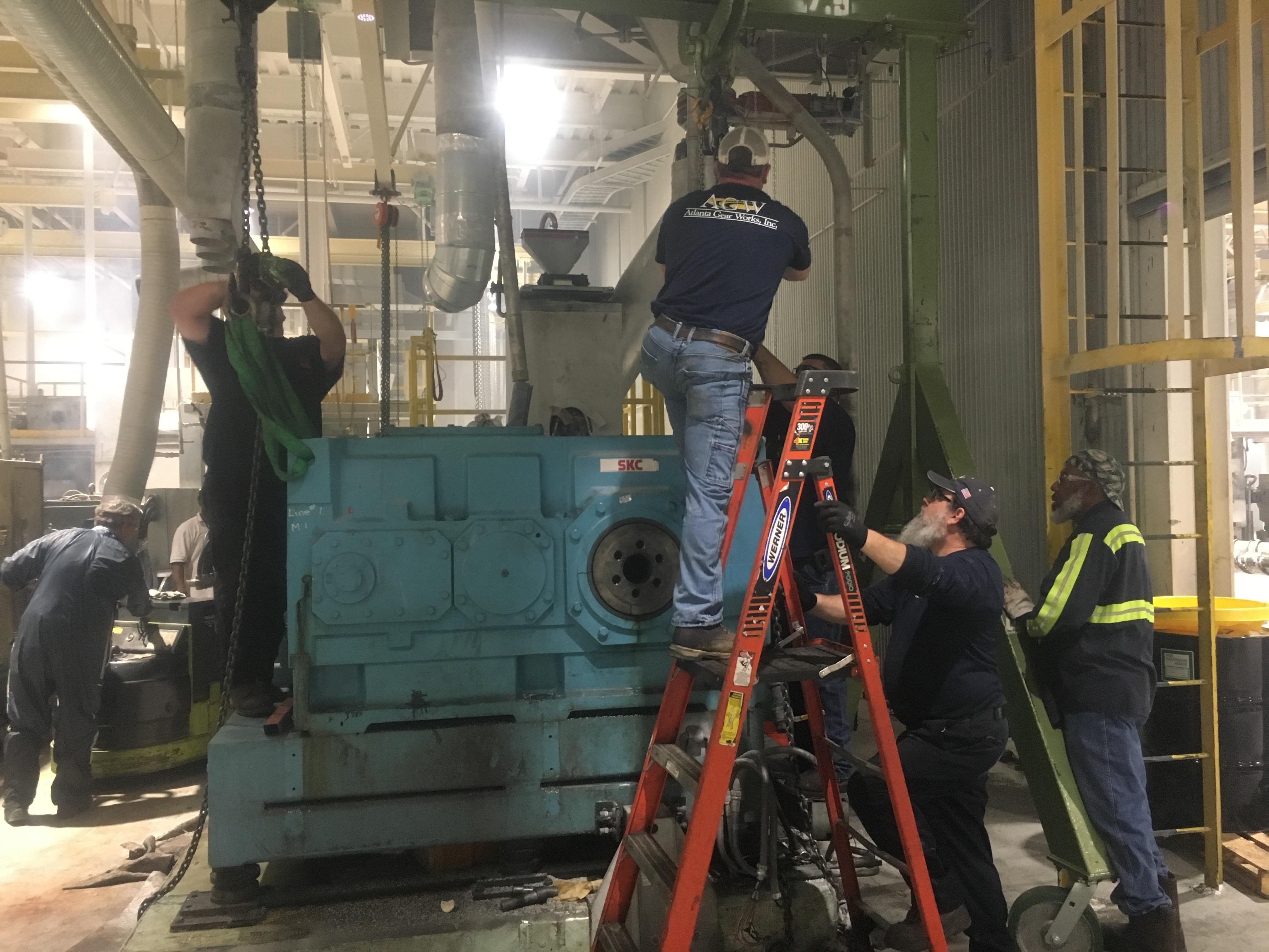 Barmag Extruder Rush Gearbox Repair